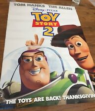 """DISNEY """"TOY STORY 2"""" ORIGINAL MOVIE POSTER  27""""  X  39.5""""  DOUBLE SIDED-PLZ READ"""