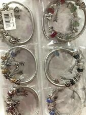 Wholesale 12pcs Mix Diamond RhineStone Eiffel Tower Charms Bracelet Bangle Set