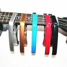 TM Folk Acoustic Electric Guitar Banjo Trigger Capo Key Clamp Quick Change Gold