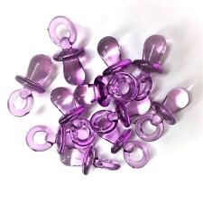 50 X CLEAR PURPLE Dummy Charms / Dummy Pendants 31mm GUMBALL, Baby Shower