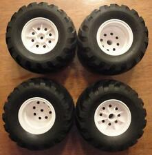 NEW TAMIYA WR - 02 4 Tire & White Wheel Set Suzuki Jimny & Volkswagen T2 Truck