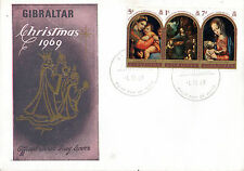 GIBRALTAR 1 DECEMBER 1969 CHRISTMAS OFFICIAL FIRST DAY COVER SHS