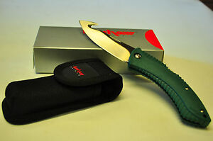 KERSHAW 1090GH NORTHSIDE HUNTER GREEN FOLDING HUNTER GUT HOOK WITH HOLDER NEW!!!