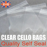 100 x C6 A6 Cellophane Premium Quality Self Seal Invite Cello Bags 120 x 162mm