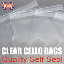 1000 x 130mm x 130mm Self Seal Cello Bags - Trade