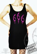 Cryoflesh Beast 666 Industrial Cyber Goth Satanic Ritual EMO Dress S-XXL