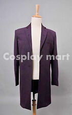 Doctor Who Eleventh  Dr. Purple Wool Frock Coat Costume  <Custom Made>