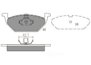 Disc Brake Pad Set-Premium Ceramic Pads Front Dash 4 Brake CFD768