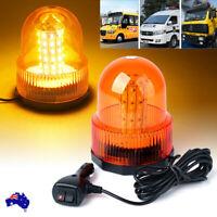 Truck Vehicle 60 LED Magnetic Warning Light Strobe Flashing Roof Light Amber AHY