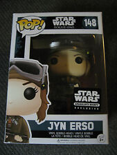 "STAR WARS JYN ERSO ""ROGUE ONE"" (#148) FUNKO POP ""SMUGGLER'S BOUNTY Exclusive!"""