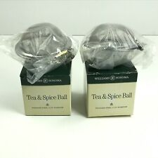 Lot of 2 Williams Sonoma Stainless Steel Tea & Spice Balls NOS in Original Boxes
