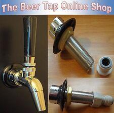 Beer Tap Stainless Steel Intertap Faucet & Shank Kegerator - Home Bar - Man Cave