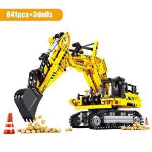 SEMBO BLOCK City Engineering Bulldozer Crane Technic Car Truck Excavator Roller