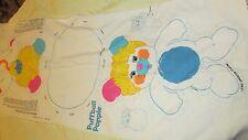 1986 vintage Puffball Popple sewing pillow plush fabric panel sew & stuff craft
