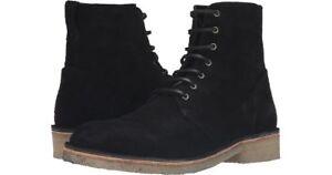 Rag & Bone Military Lace Black Suede Crepe Sole Boots SZ 9 D 9D