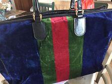 Roberta Di Camerino Beautiful Vintage Large Rare Bag Velvet and Leather