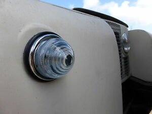 Land Rover Series 1 2a Lucas L594 Combined Indicator Sidelight Glass Lens Unit