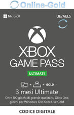 Xbox Game Pass Ultimate - 3 mesi - Codice Microsoft Xbox One Xbox 360 [EU / IT]