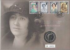 QUEEN ELIZABETH MOTHER - 1900 -2002 ** NUMISBRIEF GROSSFORMAT MIT 5 POUNDS