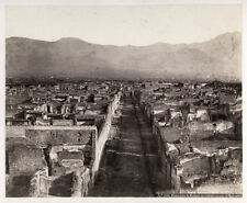 c.1870's PHOTO ITALY PANORAMA DI POMPEI DE STRADA DI MERCURIO