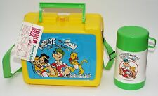 Popeye and Son A New Generation Plastic Lunch Box Kit w/Thermos Vintage 1987