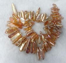 Titanium Crystal Agate Druzy Quartz Geode Stone Pendant Bead 38cm