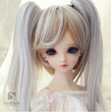 "New 9-10"" Multicolor Detachable Long Straight Hair Wig For 1/3 BJD SD LUTS DOLL"