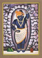 Lord Krishna ( Shreenath Ji ) Art Painting Handmade Miniature Art On Paper