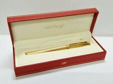 Authentic Vintage Gold Tone S.T. Dupont Pen With Box Made In France PEN140