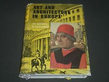 1960 ART AND ARCHITECTURE IN EUROPE BY ANTONIN MATEJCEK BOOK - KD 4084
