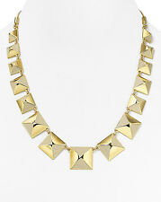 Marc Jacobs Standard Supply Giant Stud Gold Cream Link Statement Necklace