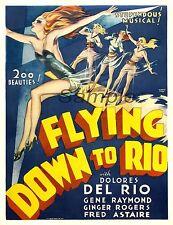 VINTAGE battenti fino a Rio MOVIE POSTER A3 stampa
