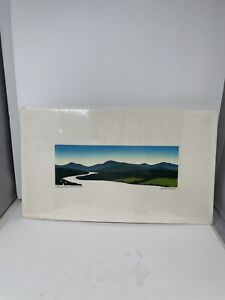 Sabra Field Woodblock Print Valley of the White River Original Unframed Conditon