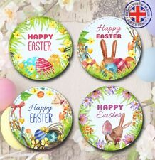 EAS1 24x 40mm Easter Bunny Egg Chocolate Stickers/Labels/Craft/Cards