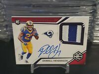 2019 Darrell Henderson Panini Limited Rookie Patch Auto #'d 2/10!!!