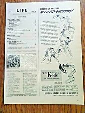 1944 U S Keds Shoes Ad  Order of the Day Keep Fit-Outdoors Sports
