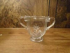 Fostoria Clear Glass Footed Open Sugar Bowl