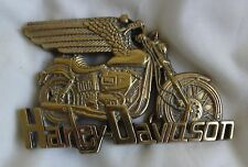 Vintage Harley Davidson Solid Brass Belt Buckle EX Rare Made in Taiwan 1983