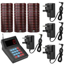Restaurant Guest Waiter Wireless Calling System Paging 30 Receiver Pager Cafe