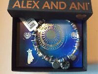 Alex and Ani Riches Wrap Bangle Bracelet Rafaelian Silver NWTBC