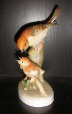 VINTAGE PORCELAIN  CROWN STAFFORDSHIRE ENGLAND BIRD FIGURINE FLYCATCHER NR