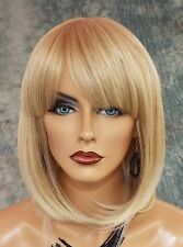 100% Heat Friendly Wig BOB WITH BANGS Attractive Sexy  COLOR T27.613 BLONDE 1013