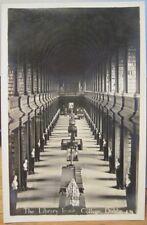 Irish RPPC TRINITY COLLEGE LIBRARY Long Room Dublin Ireland Real Photo Postcard