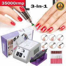 Professional Electric Acrylic Nail Art File Drill Manicure Machine Sand Kits