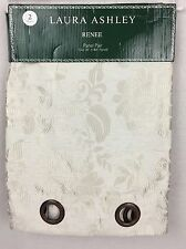 """Laura Ashley """"Renee"""" Panel Pair """" 38""""X84"""" Poly/Linen Ivory Tone on Tone Florals"""