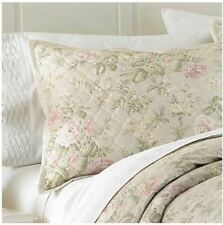 One Waterford Linens Jardin King Size Quilted Pillow Sham New Floral $150