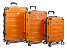 Dejuno Tahoma Lightweight 3-Piece Hardside Spinner Luggage Set - Orange