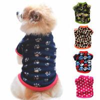Fleece Vest Dog Coat Pet Clothes Sweatshirt Puppy Jacket Casual Warm Fall Soft