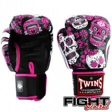 Twins Boxing Gloves - Pink Skull - FREE P&P - Muay Thai, MMA, Boxing