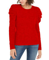 INC International Concepts Women's Puff-Sleeve Sweater Real Red Size Extra Large
